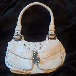 Brand new Dkny small white leather bag